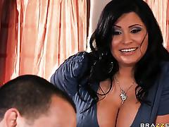 Brunette porn tube - busty mom porn